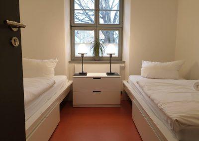 Doppelzimmer mit zwei Einzelbetten