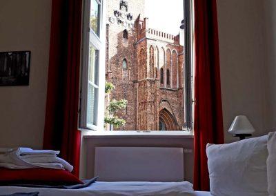 Blick auf den Dom aus einem Gästezimmer